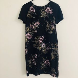 Dorothy Perkins Floral Black Midi Dress Small